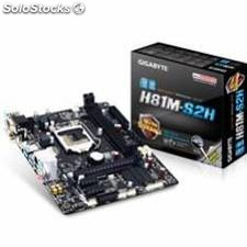 Placa base gigabyte intel h81m-s2h lga 1150 ddr3x2 16gb 1600mhz dvi hdm micor
