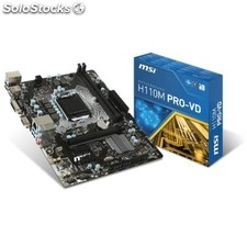 Placa base Intel gigabyte H110M pro-vd mATX socket LGA1151