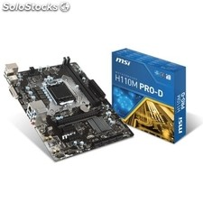 Placa base Intel msi H110M pro-d mATX socket LGA1151