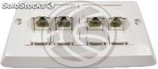 Placa de pared de 140x80 de 4 RJ45 Cat.6 utp (RI63)