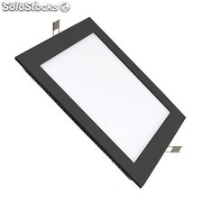 Placa LED Cuadrada SuperSlim 18W Marco Negro