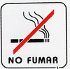 "Placa pictograma ""no fumar"" P3"