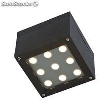 plafoniera da parete led berenique 9led cree 9 watt luce fredda sli030002cw