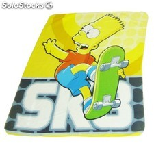 Plaid the simpsons - Jaune - (120 x 150cm)