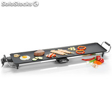 Plancha de asar Grill Tristar BP2987, superficia lisa, termostato regulable,