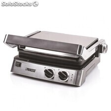 Plancha de asar princess contact grill 117300 2 termostatos 2000W inox
