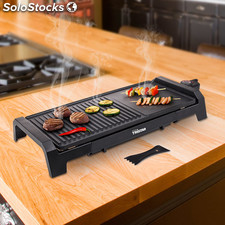 Plancha Grill Tristar BP2630, asas integradas, termostato regulable, superficie