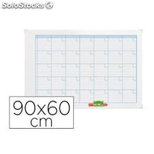 ✅ planning magnetic.nobo mensual rotulable marco metalico 90X60 cm