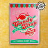 Plaque en Métal Candy Shop Vintage Coconut