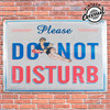 Plaque en Métal Do Not Disturb Vintage Coconut