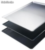Plaque patissiere aluminium - bord 45° - non perforee- épaisseur : 20/10e- 2 mm - optiflon - 600 x 800 mm