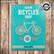 Plaque Publicitaire Bicycles Shop Vintage Coconut