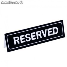 "Plaque ""table reserved"" 18x5,5 cm noir pvc"