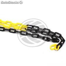 Plastic Chain 25m yellow/black (BB93)