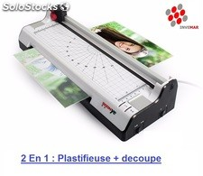 Plastifieuse a chaud & coupe papier 2en1