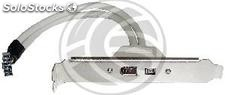 Plate 400 IEEE 1394 FireWire 4-pin and 6 pin female (FW91)