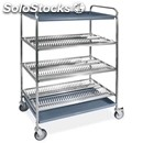 Plate and glass drainer - mod. 50/1/2/3 - tubular stainless steel structure -