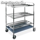 Plate and glass drainer - mod. 50 - tubular stainless steel structure -