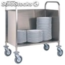 Plate rack trolley - mod. cp1441 - tubular stainless steel structure - capacity