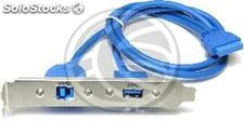 Plate USB 3.0 B Female to female and female HS20 (UU49)