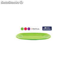 Plato 19X19CM solid privilege - 3 colores surtidos - privilege - solid -