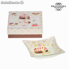 Plato de cristal sweet - Colección Kitchen's Deco by Bravissima Kitchen