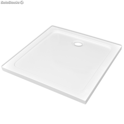 Plato de ducha cuadrado de abs color blanco 80 x 80 cm for Platos de ducha de colores