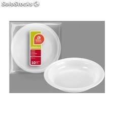 Plato plástico hondo 20,5cm 7 grueso, best products, 10uds.