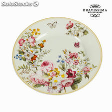 Plato postre bloom white - Colección Kitchen's Deco by Bravissima Kitchen