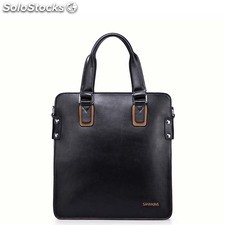 Plato series of high-quanlity cowhide leather handbag contrast color bag 2