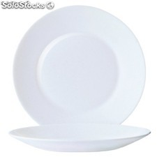 Platos con borde ancho opal restaurant 254mm arc DP064