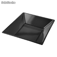 Platos de plastico cuadrados color negro 170 mm PS