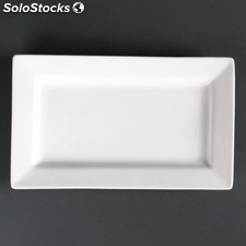 Platos rectangulares con borde ancho lumina 257 x 155mm