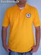 Playera tipo polo doble frontura varios colores