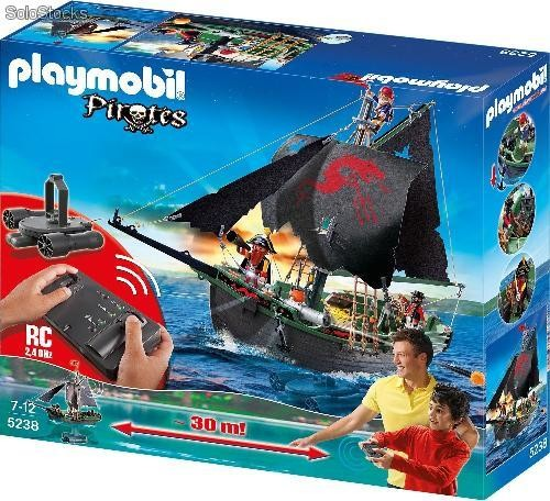 Playmobil 5238 Barco Pirata Con Motor Submarino Rc