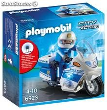 Playmobil Policía con Moto y Luces LED