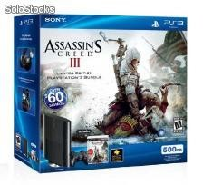 Playstation 3 500 GB + Assasins Creed iii