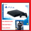 Playstation PS4 500GB slim consola + Dualshock + Uncharted 4 + Cables conexion