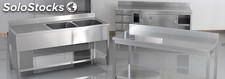Plonge inox, table de travail inox, lave main
