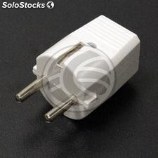 Plug schuko plug straight white male (CM41-0002)