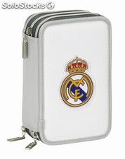 Plumier triple 41 pcs real madrid