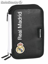 Plumier triple 41 pcs real madrid basket