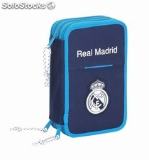"Plumier triple 41 pcs real madrid ""blue"""