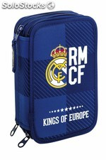 Plumier triple 41 pcs real madrid blue