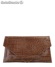 pochette donna made in italia marrone (32648)