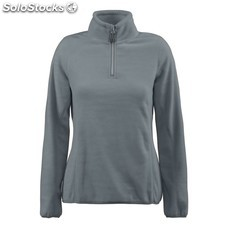 Polar media cremallera para mujer printer frontflip fleece half zip ladies