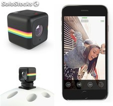 Polaroid Cube+ Plus WiFi negra, mini-cámara Full HD 1440p