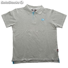 Polo de manga corta niño blue logo gris - gris - the indian face - 8433856029475