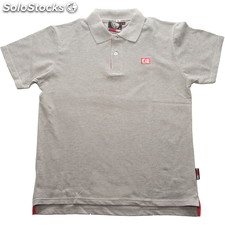 Polo de manga corta niño red logo gris - gris - the indian face - 8433856029192