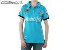 Polo geographical norway Frauen - kipawa_lady_ss_assor_b_turquoise - Größe : xs